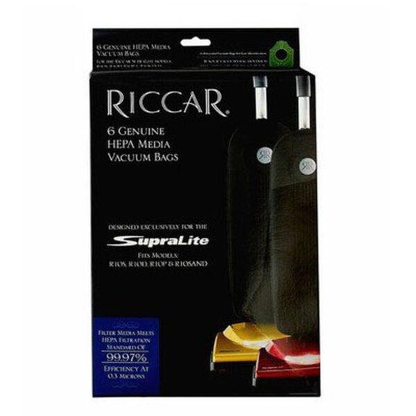 Riccar SupraLite HEPA Media Vacuum Bags - 6 Pack, RLH-6