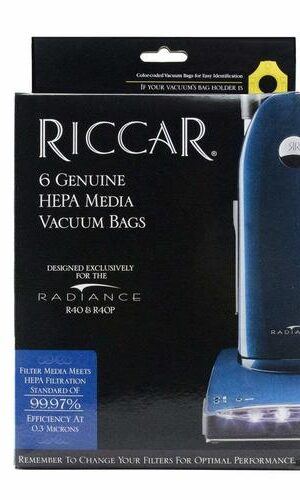 Riccar Type P Radiance R40 Series HEPA Media Bags - 6 Pack, RPH-6