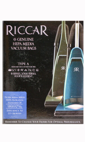 Riccar Type A Vibrance Genuine HEPA Bags for R Series & 4000 Series - 6 Pack, RAH-6
