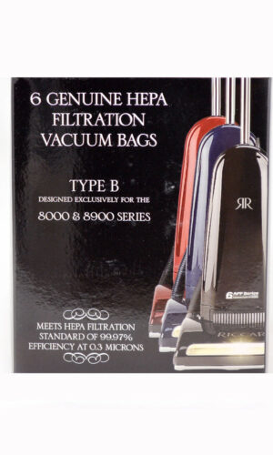 Riccar Type B Genuine HEPA Bags for 8000 & 8900 Series - 6 Pack, RBH-6