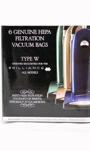 Riccar Type W Brilliance Genuine HEPA Bags 6 Pack, RWH-6