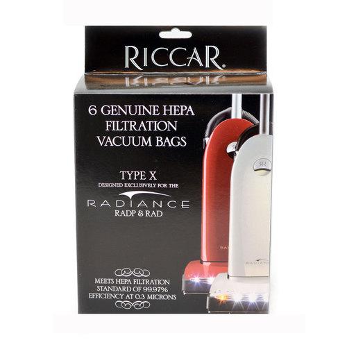 Riccar Type X Radiance Genuine HEPA Bags - 6 Pack, RXH-6