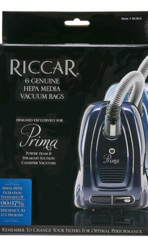 Riccar Prima HEPA Media Vacuum Bags - 6 Pack, RCH-6